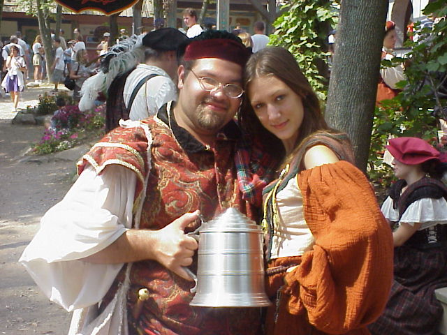 My,that's a big tankard you have there...